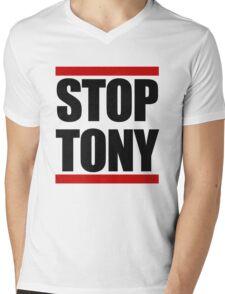 STOP TONY Mens V-Neck T-Shirt