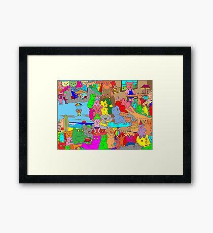 Bears on vacation Framed Print
