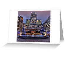 Canary Wharf - London - 4 - HDR Greeting Card