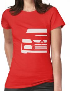 Mitsubishi Lancer Evolution Close Up Zoom - T Shirt / Phone Case Design  Womens Fitted T-Shirt