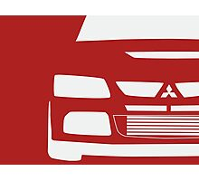 Mitsubishi Lancer Evolution Close Up Zoom - T Shirt / Phone Case Design  Photographic Print