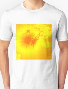 Abstract sun flare lighting up the clouds T-Shirt