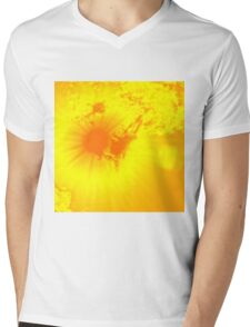 Abstract sun flare lighting up the clouds Mens V-Neck T-Shirt
