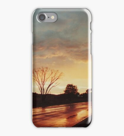 Wet Outback sunset iPhone Case/Skin