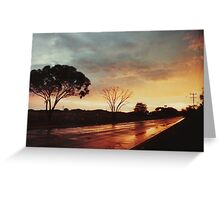 Wet Outback sunset Greeting Card