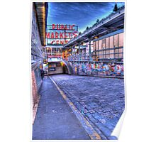 Pikes Place Market Seattle Poster