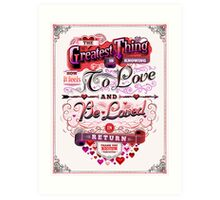 Valentine's Day: The Greatest Thing Art Print