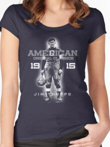 jim thorpe Women's Fitted Scoop T-Shirt