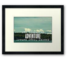 She Looks for Adventure  Framed Print
