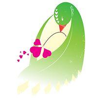 Love Birds 'Emerald Caress' by Christopher Richards