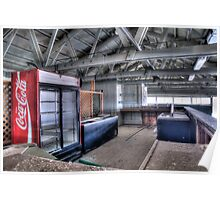 Abandoned Food Concession Area Poster