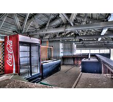 Abandoned Food Concession Area Photographic Print