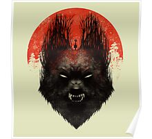 Red Rising Moon Poster