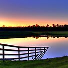 sunset over the dam, manjimup WA by mrobertson7