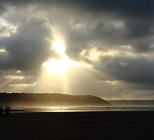 Burst of Light at Westward Ho!  by Mjay