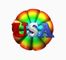 Usa rainbow by valxart  Unisex T-Shirt