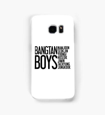 BTS/Bangtan Boys Names Samsung Galaxy Case/Skin