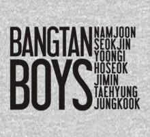 BTS/Bangtan Boys Names One Piece - Long Sleeve
