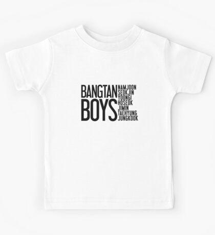 BTS/Bangtan Boys Names Kids Tee
