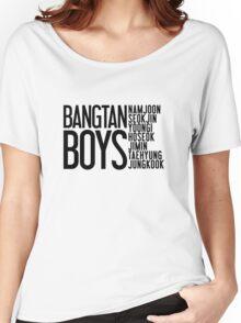 BTS/Bangtan Boys Names Women's Relaxed Fit T-Shirt
