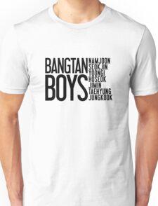 BTS/Bangtan Boys Names Unisex T-Shirt