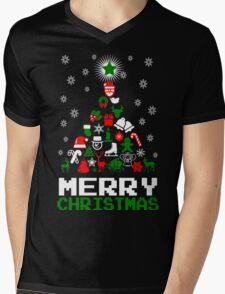 Ornament Merry Christmas Tree Mens V-Neck T-Shirt