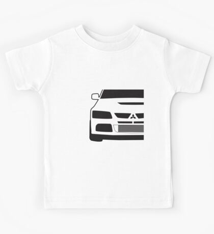 Mitsubishi Lancer Evo - Close Up Zoom Corner Sticker / Tee Design Kids Tee