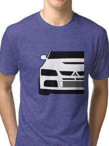 Mitsubishi Lancer Evo - Close Up Zoom Corner Sticker / Tee Design Tri-blend T-Shirt