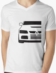 Mitsubishi Lancer Evo - Close Up Zoom Corner Sticker / Tee Design Mens V-Neck T-Shirt