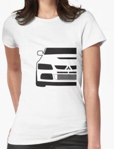 Mitsubishi Lancer Evo - Close Up Zoom Corner Sticker / Tee Design Womens Fitted T-Shirt