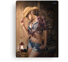 Cowgirl Cool Canvas Print