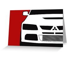 Mitsubishi Lancer Evo - Close Up Zoom Corner Sticker / Tee Design Greeting Card