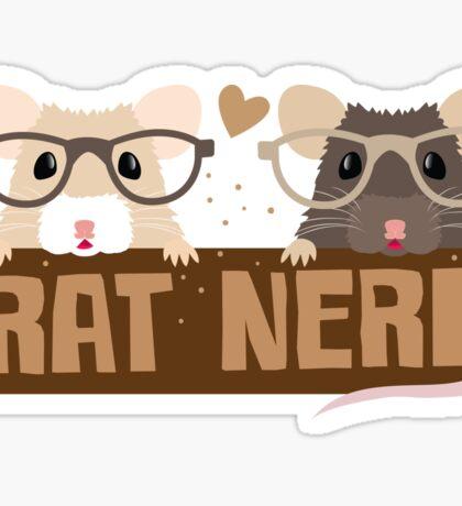 RAT NERD (Self proclaimed expert about RATS) Sticker