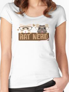 RAT NERD (Self proclaimed expert about RATS) Women's Fitted Scoop T-Shirt