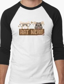 RAT NERD (Self proclaimed expert about RATS) Men's Baseball ¾ T-Shirt