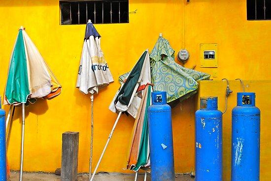umbrellas and propane by richard  webb