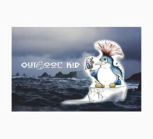 Outdoor Kid Penguin Punk One Piece - Short Sleeve
