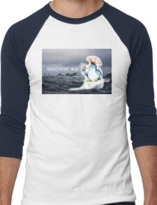 Outdoor Kid Penguin Punk Men's Baseball ¾ T-Shirt