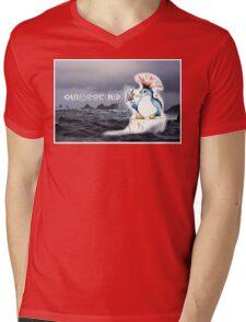 Outdoor Kid Penguin Punk Mens V-Neck T-Shirt
