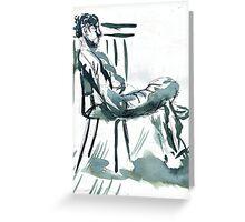sunny chair  Greeting Card