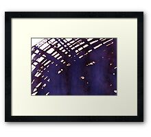 scruffily cross hatched Framed Print