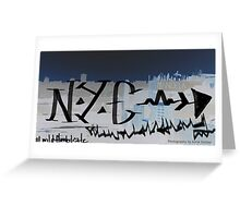 NYC midnight graffiti Greeting Card