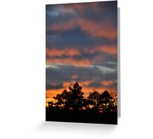 Orange + Blue Sky Greeting Card