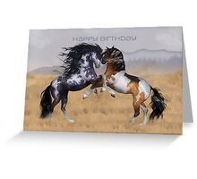Wild Horses Birthday Greeting Card Greeting Card
