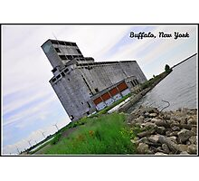 Grain Mill on Lake Erie. Buffalo, NY Photographic Print