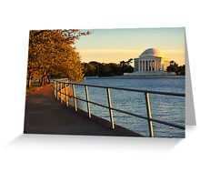 The Golden Jefferson Memorial Greeting Card