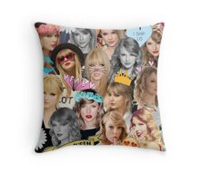 Taylor Swift Collage Throw Pillow