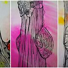 Triptych Drawing of Trees by annabelgrant