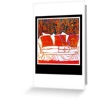 WHITE COUCH Greeting Card