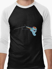 Rainbow Dash Pink Floyd Men's Baseball ¾ T-Shirt